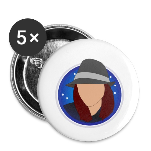 discoblue - Buttons small 1''/25 mm (5-pack)