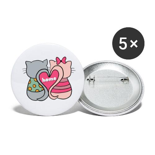 Cats - Buttons small 1''/25 mm (5-pack)
