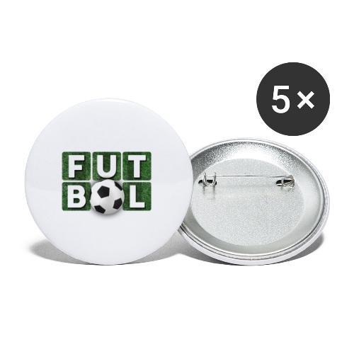 Futbol - Paquete de 5 chapas pequeñas (25 mm)