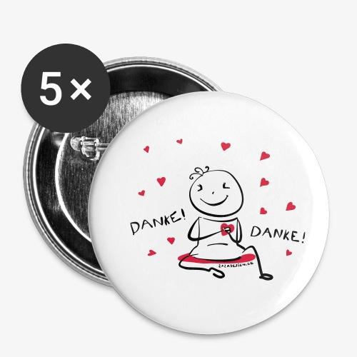 Danke! - Buttons klein 25 mm (5er Pack)