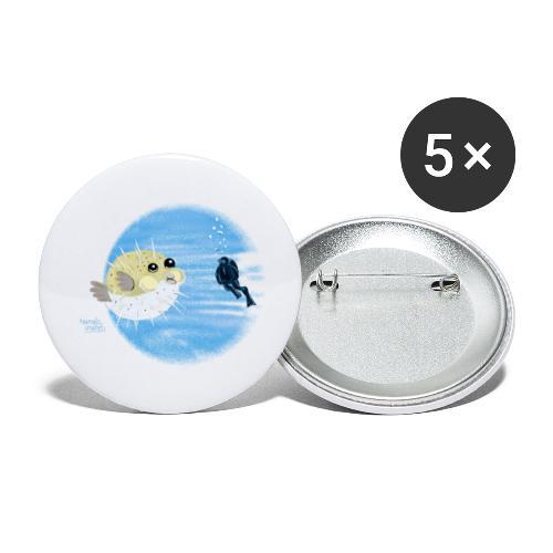 Puffer fish - T-shirts - Lot de 5 petits badges (25 mm)