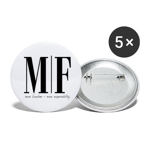 MORE FREEDOM - Buttons klein 25 mm (5er Pack)