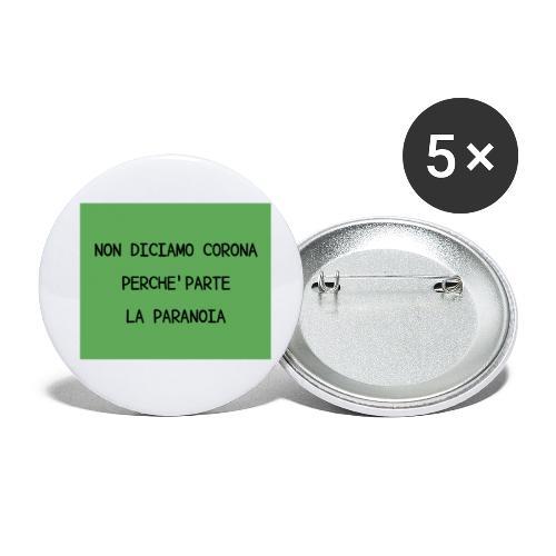 Non diciamo corona - Confezione da 5 spille piccole (25 mm)