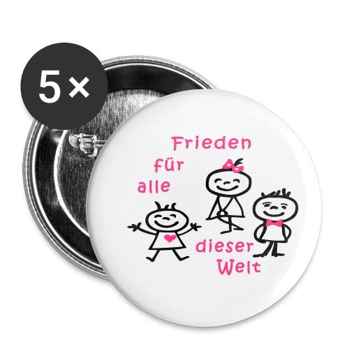 Kindertag, Childrens Day, Frieden - Buttons klein 25 mm (5er Pack)