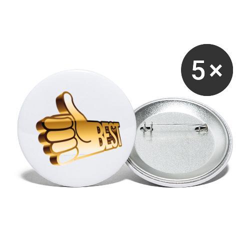 Best - Små knappar 25 mm (5-pack)