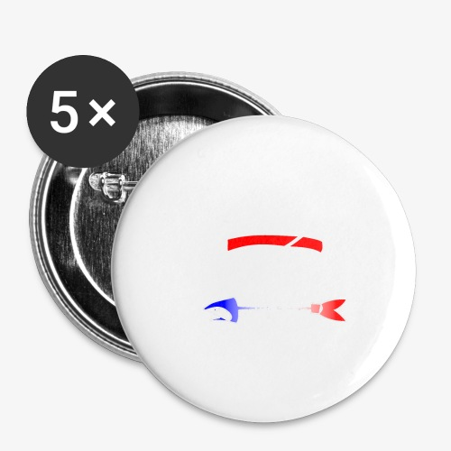 Code Bar white - Lot de 5 petits badges (25 mm)
