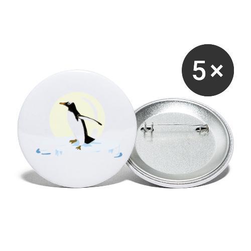 Manchot glacé - Lot de 5 petits badges (25 mm)