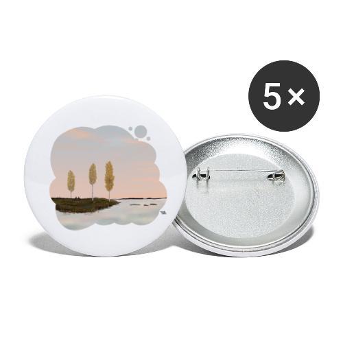 Automne en Laponie - Lot de 5 petits badges (25 mm)
