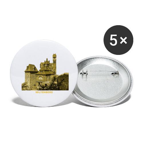 Miltenberg Burg Museum Franken Main Bayern - Buttons klein 25 mm (5er Pack)