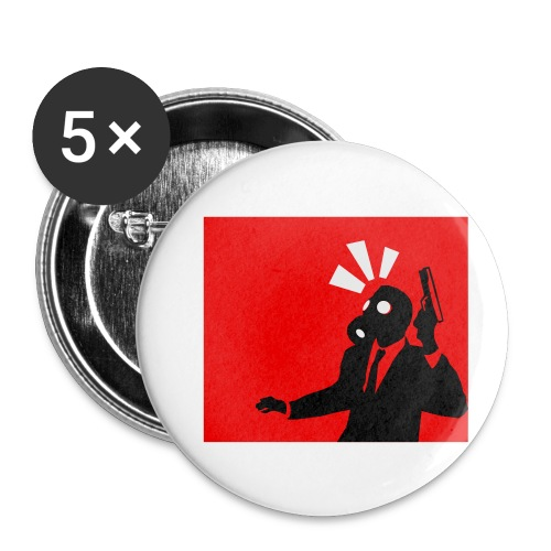 Gasmask - Buttons small 1''/25 mm (5-pack)