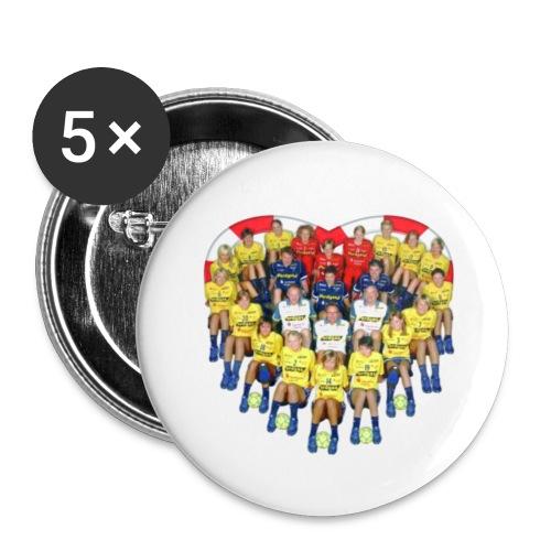 hcl team - Buttons klein 25 mm (5er Pack)