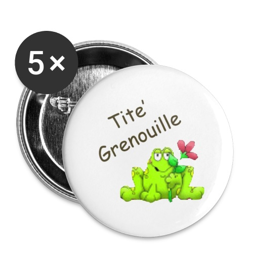 titgrenouille - Lot de 5 petits badges (25 mm)