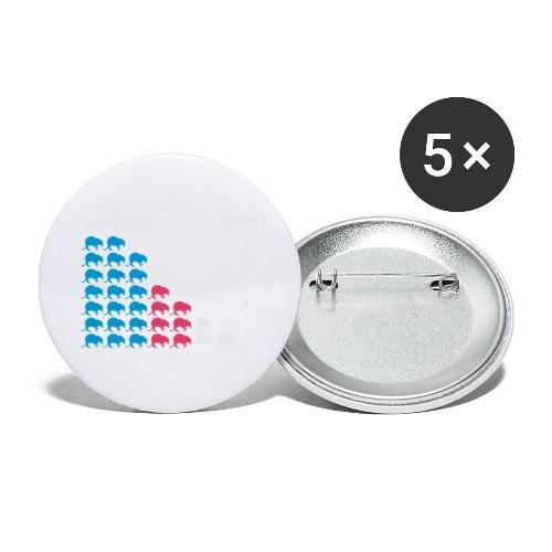 Nasenbeutler - Buttons klein 25 mm (5er Pack)