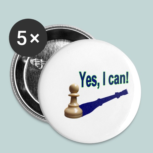 Yes, I can! 1 - Buttons klein 25 mm (5er Pack)