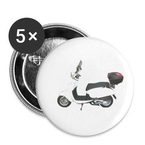 Daelim Besbi freigerstellt seitlich von links - Buttons klein 25 mm (5er Pack)