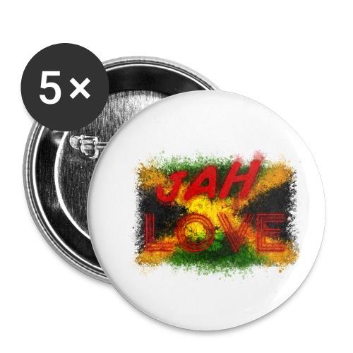jah love - Lot de 5 petits badges (25 mm)