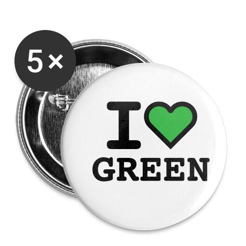 i-love-green-2.png - Confezione da 5 spille piccole (25 mm)