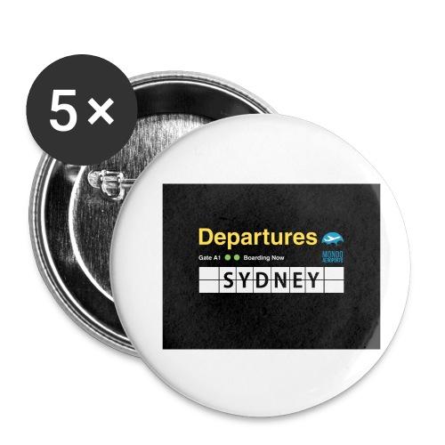 SYDNEY png - Confezione da 5 spille piccole (25 mm)