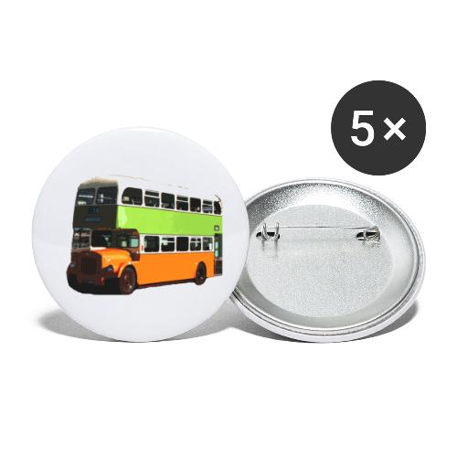 Glasgow Corporation Bus - Buttons small 1''/25 mm (5-pack)