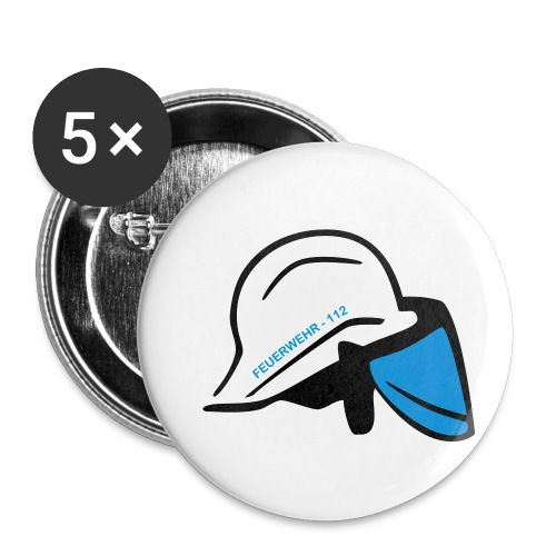 Feuerwehr Helm - Buttons klein 25 mm (5er Pack)