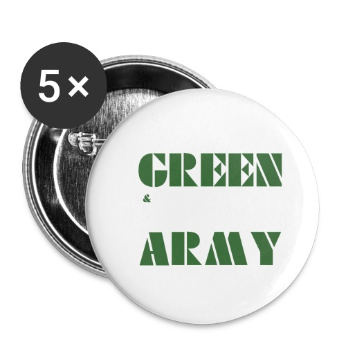 GREEN & WHITE ARMY _STENCIL_3 - Buttons small 1''/25 mm (5-pack)