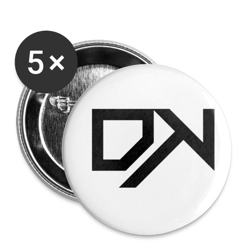 DewKee Logo Cap Black - Buttons small 1''/25 mm (5-pack)