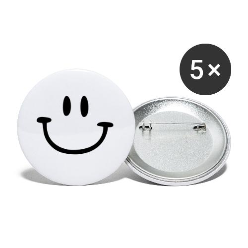 ptb smiley face - Buttons small 1''/25 mm (5-pack)