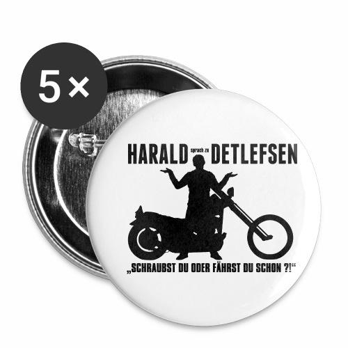 Harald Detlefsen - Buttons klein 25 mm (5er Pack)