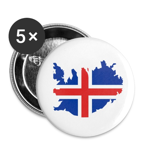 Iceland - Buttons klein 25 mm (5-pack)