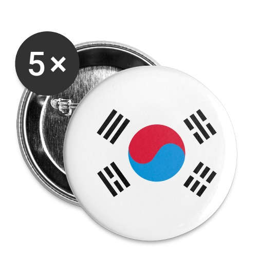 South Korea - Buttons klein 25 mm (5-pack)