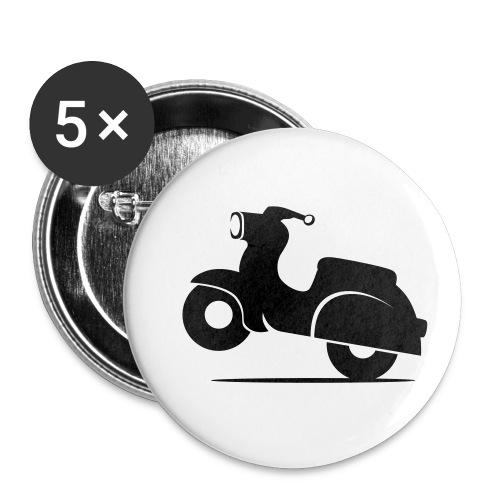 Schwalbe knautschig - Buttons klein 25 mm (5er Pack)