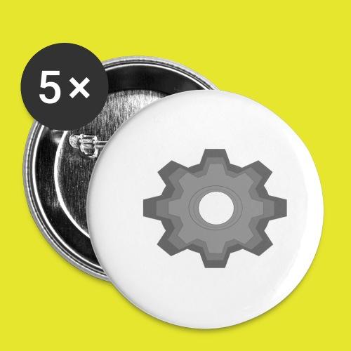 kugghjul - Små knappar 25 mm (5-pack)
