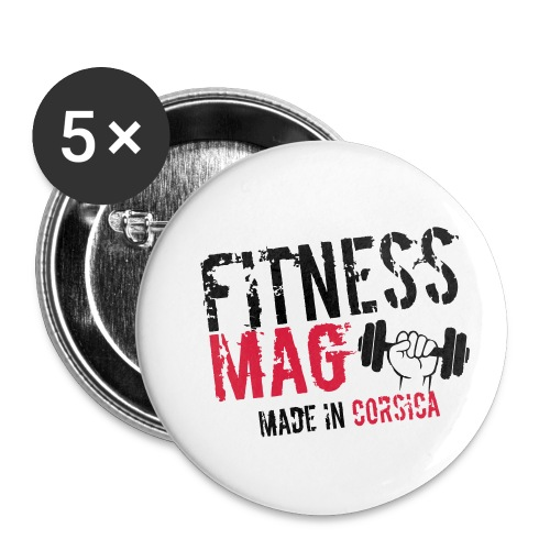 Fitness Mag made in corsica 100% Polyester - Lot de 5 petits badges (25 mm)