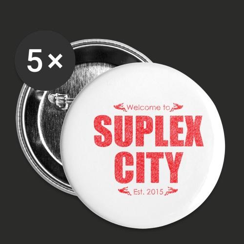 Suplex City Mens T-Shirt - Buttons small 1''/25 mm (5-pack)