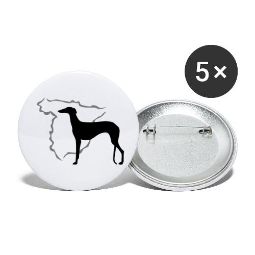 Spanischer Windhund - Buttons klein 25 mm (5er Pack)