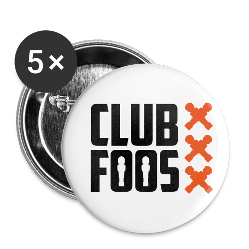 front-logo-crosses - Buttons klein 25 mm (5-pack)