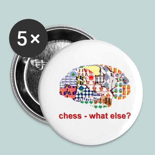 chess_what_else - Buttons klein 25 mm (5er Pack)