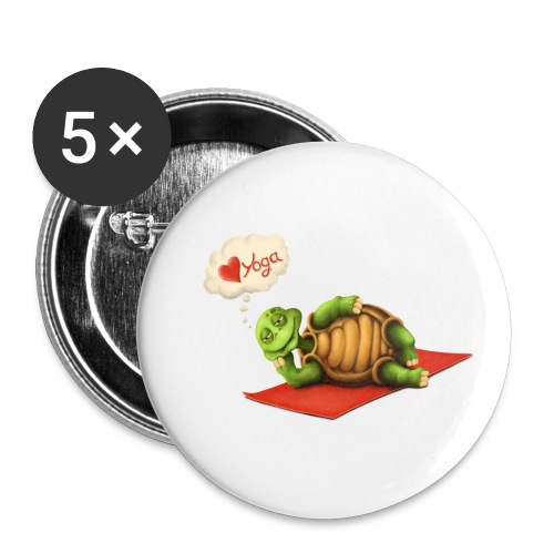 Love-Yoga Turtle - Buttons klein 25 mm (5er Pack)