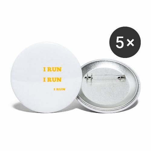 Ich laufe - Buttons klein 25 mm (5er Pack)