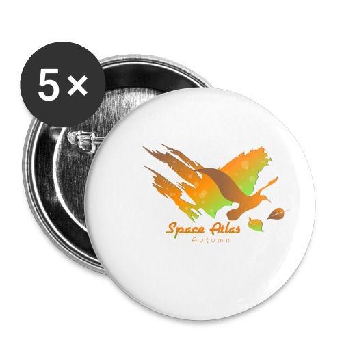 Space Atlas Longshirt Tee Autumn Leaves - Buttons/Badges lille, 25 mm (5-pack)
