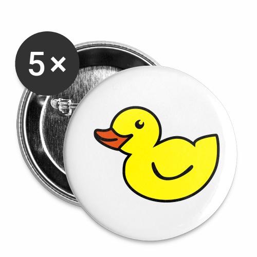Ente - Buttons klein 25 mm (5er Pack)