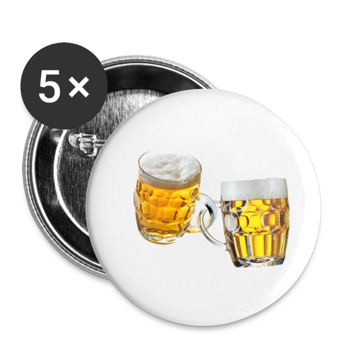 Boccali di birra - Confezione da 5 spille piccole (25 mm)