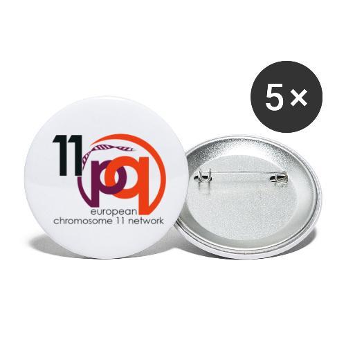 11q_logo_century - Buttons klein 25 mm (5er Pack)