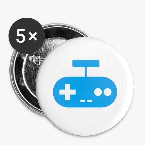 PREMIUM SO GEEEK GAMING - MINIMALIST DESIGN - Lot de 5 petits badges (25 mm)