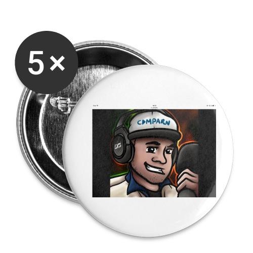 Comparns - Små knappar 25 mm (5-pack)