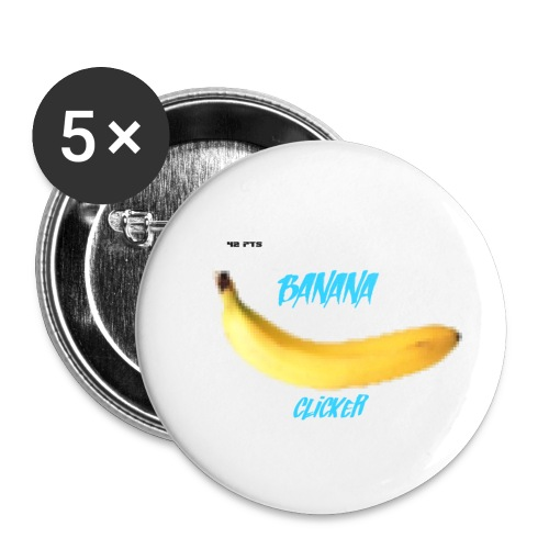 Banana Clicker fait par Colonel Salopard ( - Lot de 5 petits badges (25 mm)