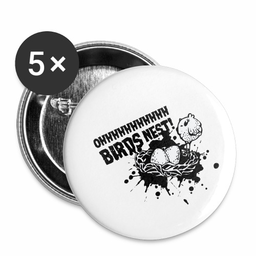 Birds Nest With Bird - Buttons small 1''/25 mm (5-pack)
