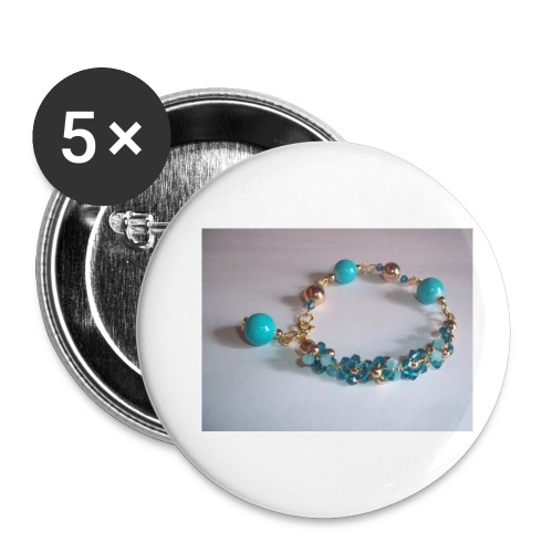 Brazalete para chicas/Bracelet for girls - Paquete de 5 chapas pequeñas (25 mm)
