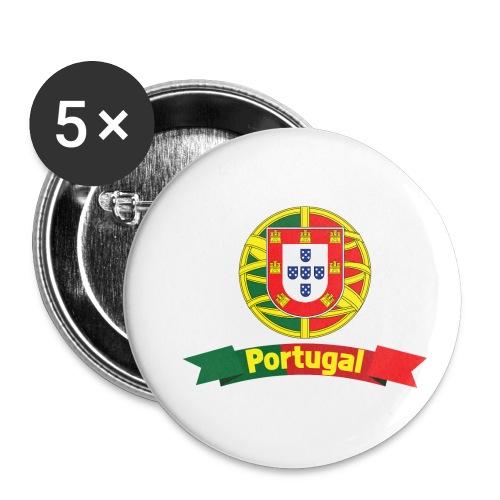 Portugal Campeão Europeu Camisolas de Futebol - Buttons small 1''/25 mm (5-pack)