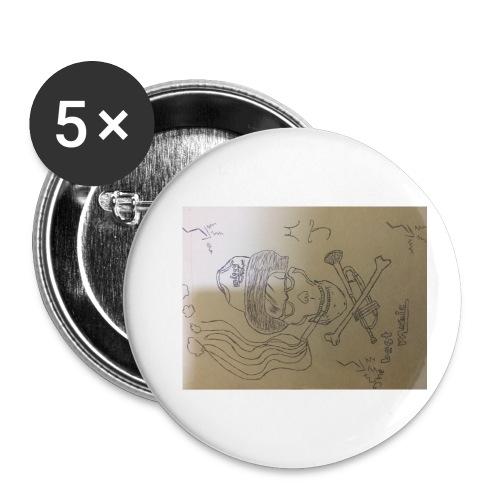 Miggy Trumpet new logo - Buttons klein 25 mm (5er Pack)